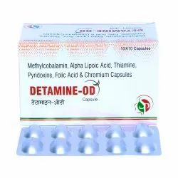Methylcobalamin 1500 MCG Alpha Lipoic Acid 100 MG Thiaimine 10 MG Pyridoxine HCL 3MG Folic Acid 1.5