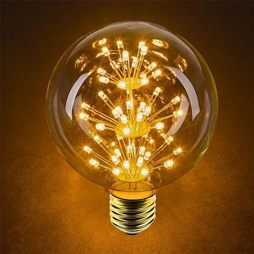 Decorative Led Lighting: Cool Daylight 5 W Decorative LED Bulb, Base Type: E40