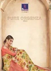 Shangrila Pure Orgenza Vol-2 Printed Saree
