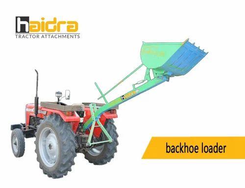 Tractor Backhoe Rear Loader Loading Sand