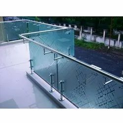 Stainless Steel Polished Glass Railing
