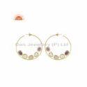Amethyst Moonstone 925 Sterling Silver Hoop Earring
