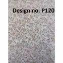 P120 Non Woven Metallic Printed Fabric