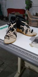 Garv Black Cream Ten Ladies Flip Flop Sandal, Size: 36-41, Packaging Type: Box
