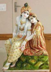 Artistic Marble Radha Krishna Statue