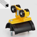 C Rail Plastic Cable Carrier Trolley
