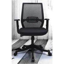 Black Medium Back Chair