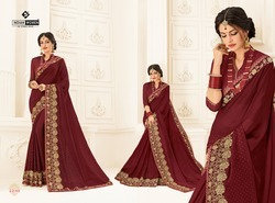 Maroon Color Two Tone Chiffon Pattern Saree