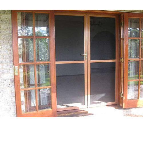 Alfence Aluminium Powder Coated Insect Screens Wooden