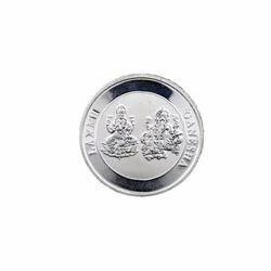 Laxmi Ganesh Silver Coin