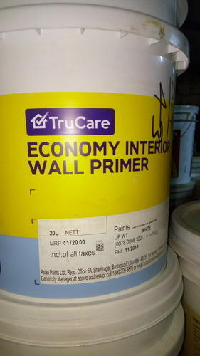 White Asian Paints Economy Interior Wall Primer 20ltrs Rs 150 Ltrs Id 20404870591