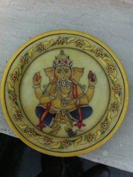 MARBLE PLATE GANESH PAINTING