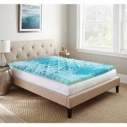 Blue Gel Memory Foam Mattress Topper Thickness 5 Inch 12 Inch