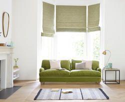 Green Roman Blind for Home