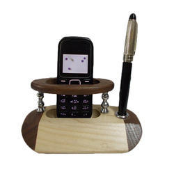 Wooden Desktop Mobile Pen Stand