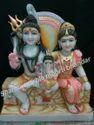Shiv Parvati Marble Moorti