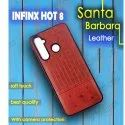 Infinx Hot 8 Leather Plain Mobile Cover