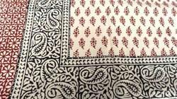 Block Printed Single Bedsheet