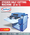 3 in 1 Sticker Half Cutting Machines