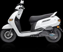 TVS White e-Scooter iQube, 75 Km Per Charge, 5 Hrs
