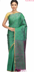 Hand Woven Turquoise Kanchipuram Pure Silk  Saree