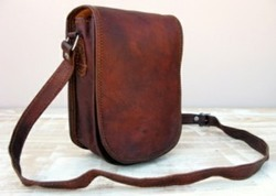 Full Flap Genuine Leather Saddle Bag