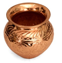 4 inch Poompuhar Copper Asthalakshmi Chembu