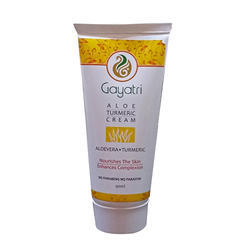 Gayatri Herbals Aloe Vera Turmeric Aloe Turmeric Cream, Packaging Size: 90 Ml, Type Of Packaging: Tube