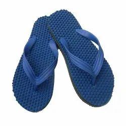 Mens Blue Rubber Slipper