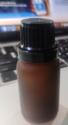 15 Ml Amber Frosted Glass Bottle