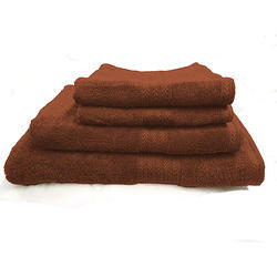 Bombay Dyeing Tulip Plain Dyed 4 Piece Cotton Towel Set, 450 GSM - Ginger