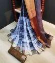 Party Wear Linen-saree, 5.5 M (separate Blouse Piece)
