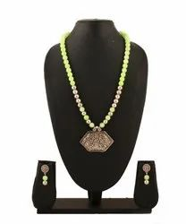 OXJ009 Adorned With Oxidized Silver Pendant