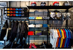 Sportswear Racks On Slatwall Board