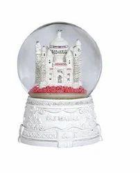 Multi Plastic Reloving Musical Taj Mahal Showpeice Gift Item