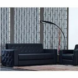 Leather Black Redefino Luxury Sofas, For Home