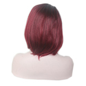 Natural Brown Burgundy Hair Wig