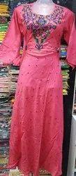 Formal Wear 3/4th Sleeve Rayon Anarkali Long Kurti, Size: XL, XXL, Wash Care: Machine Wash