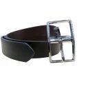 Mens Reversible Black Leather Belt