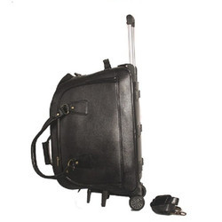Luggage Leather Trolley Bags