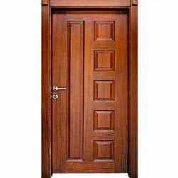 Modern Finished Brown Wooden Door