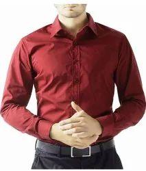Red Mens Cotton Designer Shirt, Size: Medium
