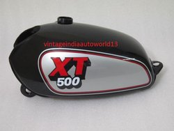 New Yamaha Xt Tt 500 Silver And Black Painted Aluminum Petrol Tank 1980 Model