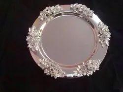 Designer SS Round Platter