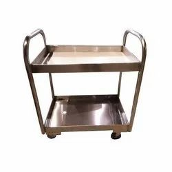 SS 2 Layer Bar Service Trolley Small