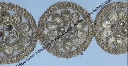 Silver Surat 1 Inch Cut Work Lace