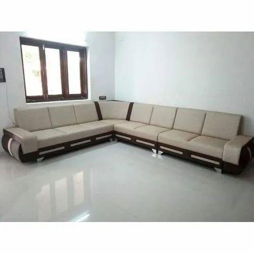 Sofa Set Size: Modern Designer L Shape Corner Sofa Set, Size: 9 X 7 Feet