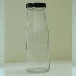 Keventers Glass 200ml Milkshake Bottle, Lug Caps