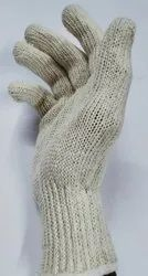Cotton White Knitted Gloves 80gms