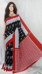Kalamkari Prints Casual Wear Bagru Printed Rajasthani Cotton Sarees, Hand Made, 5.5 m (separate blouse piece)